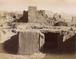 [Ruins of the] Residency, shewing the Gate and Scaffold. [Kabul].